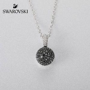 Swarovski Lollypop Necklace, Gray, Rhodium Plated